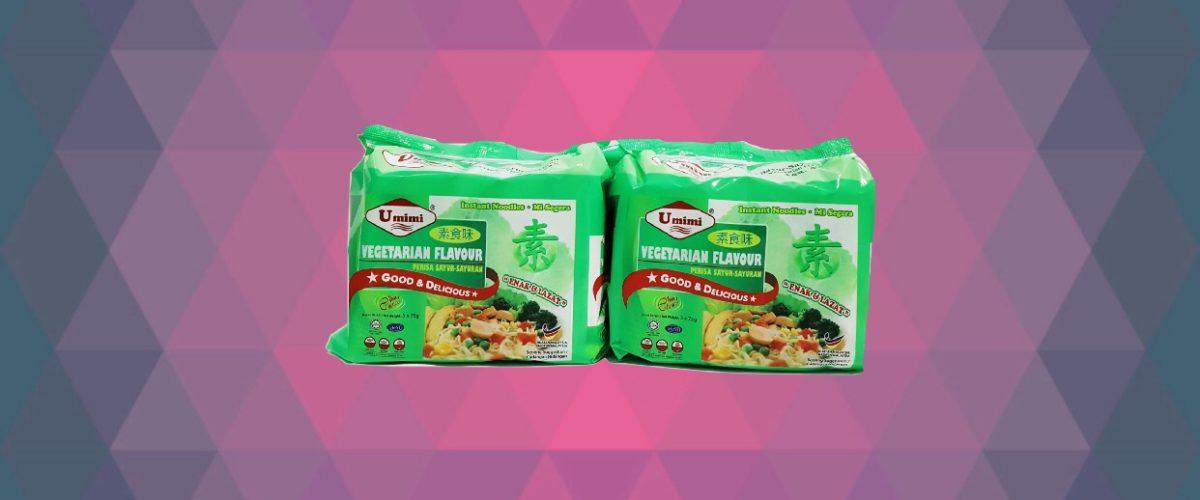 Umimi Instant Noodles Vegetarian Flavour 75g x 5pcs