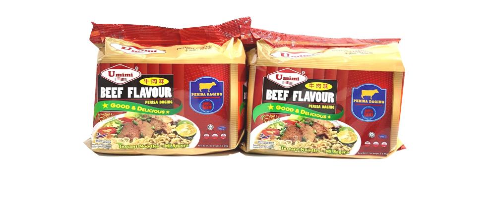 Umimi Instant Noodles Beef Flavour 75g x 5pcs