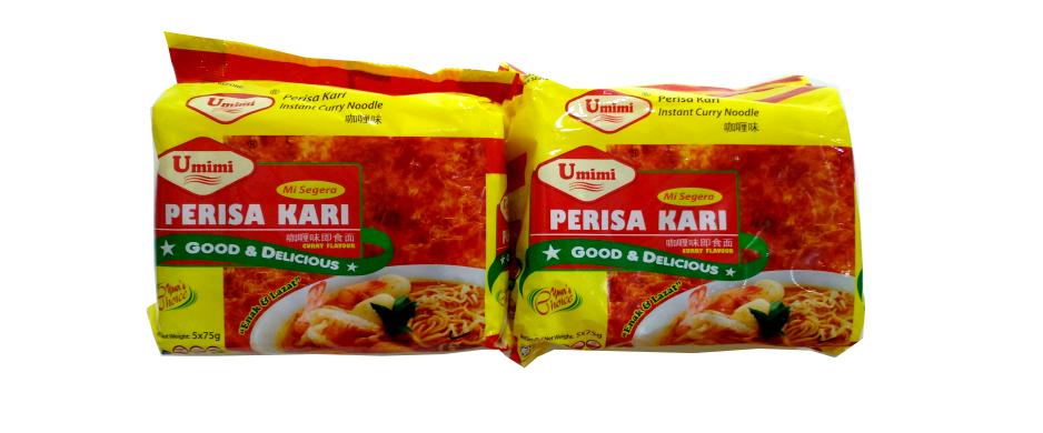 Umimi Instant Noodles Curry Flavour 75g x 5pcs